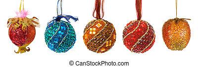 Set of colorful christmas balls