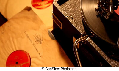 Phonograph - Retro portable phonograph