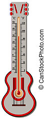 The thermometer celsius and fahrenheit scale Illustration in...