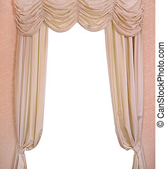 Luxury curtain with a copy-space