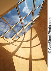 Roof skylight window, beautiful sunlight