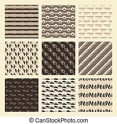 Set of 9 styled, ultimate hand drawn seamless textures....