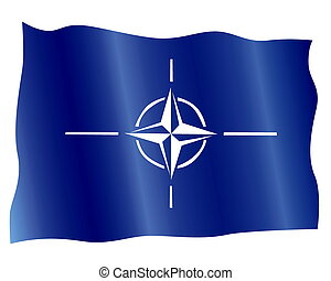 NATO flag on a white background