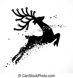 karácsony, rénszarvas, dekoráció