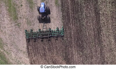 Aerial - Production of crops in the field dron video
