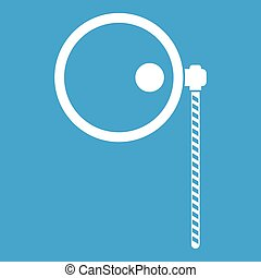 Monocle icon white isolated on blue background vector...