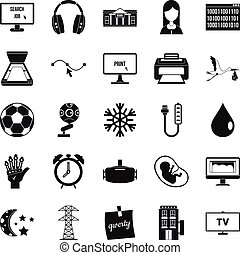 Medical application icons set, simple style - Medical...