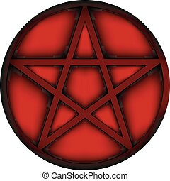 Pentagram icon sign. - Pentagram icon sign on white...