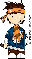 Cute Pirate Crewman - Cute Cartoon Pirate Crewman wearing...