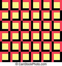 56-13-9 - Seamless Square and Stripe Pattern. Vector Regular...