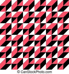 65-1 - Seamless Geometric Pattern. Vector Black and White...