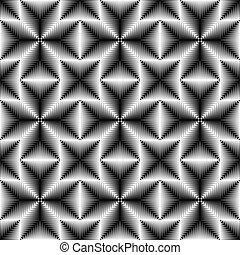 Seamless Cross Pattern. Abstract Black and White Background