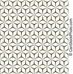 3d Seamless Cube Pattern. Abstract Wrapping Paper...