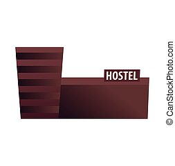 Hostel building. Guest house. Hotel building. Travel. -...