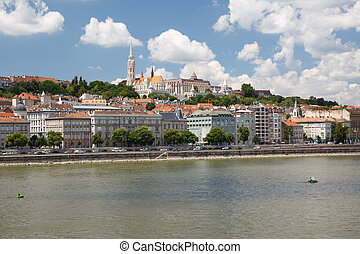 view of the Fisherman's Bastion and the west bank of the...