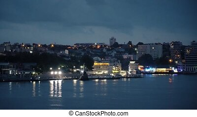 Sevastopol Bay in the Evening - Monument to the Sunken Ships...
