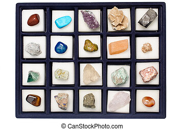 Collection minerals - Collection of various minerals,...
