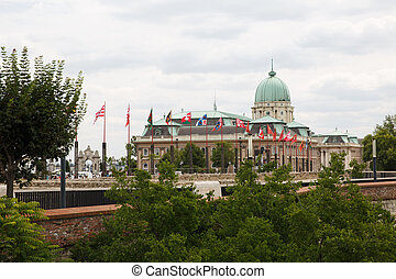 The National Gallery Building in the Buda Castle, Budapest....