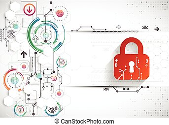 Protection background. Technology security, encode and...