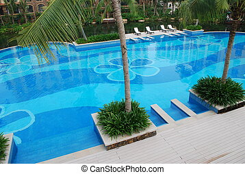 Appealing swimming pool - View of a beautiful swimming pool...