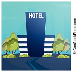 Hotel building. Guest house. Travel and trip. - Hotel...