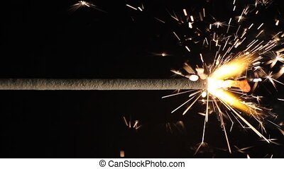 Sparkler - This video shows a burning sparkler