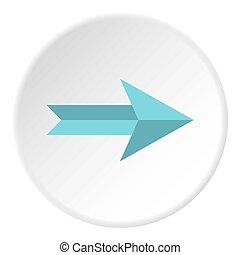 Big arrow icon circle - Big arrow icon in flat circle...