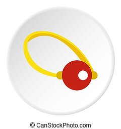 Clown nose icon circle - Clown nose icon in flat circle...