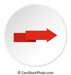 Arrow to right icon circle - Arrow to right icon in flat...