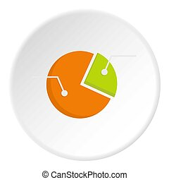 Colorful pie graphic chart icon circle