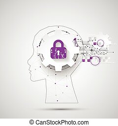 Intellectual property concept background. Vector science...