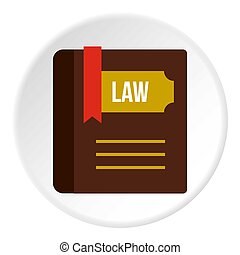 Book of law icon circle