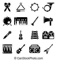風格, 圖象, 集合, 儀器, 簡單, 音樂