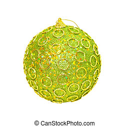 Christmas ornament ball isolated with clipping path included
