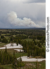 Keystone Wildfire burning in Wyoming - Keystone Wilfire...