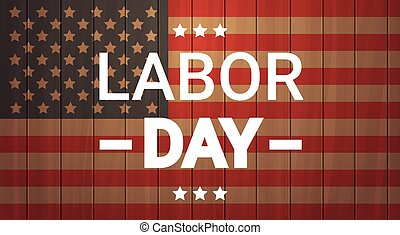 Labor Day National American Holiday Greeting Banner Flat...