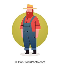 Farmer Man Icon Agriculture Worker Professional Occupation