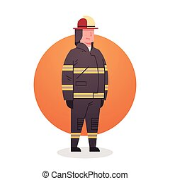 Fireman Icon Fire Fighter Professional Worker Occupation...