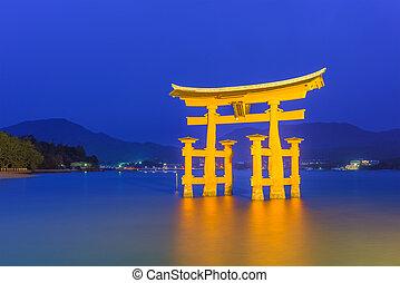 Miyajima Floating Gate - Miyajima, Horishima, Japan floating...