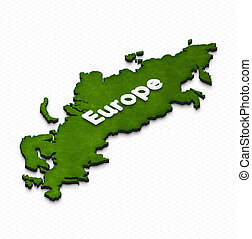 Map of Europe. 3D isometric illustration.