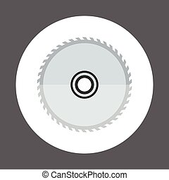 Circular Saw Icon Working Hand Tool Equipment Concept Vector...