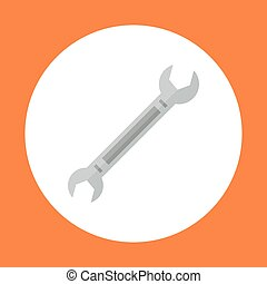 Spanner Icon Working Hand Tool Equipment Concept Vector...