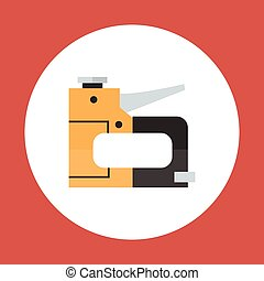 Drill Icon Working Hand Tool Equipment Concept Vector...