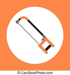 Handle Saw Icon Working Hand Tool Equipment Concept Vector...
