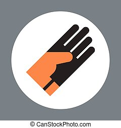 Glove Icon Working Hand Tool Equipment Concept Vector...