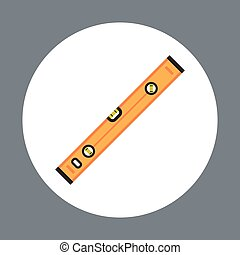 Ruler Icon Working Hand Tool Equipment Concept Vector...