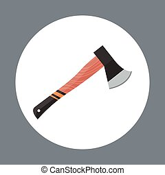 Axe Icon Working Hand Tool Equipment Concept Vector...