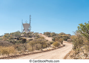 Water reservoir in the centre of Windhoek - A water...