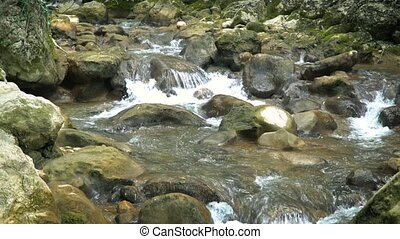 Mountain River of Crimea Slow Motion - Mountain river...