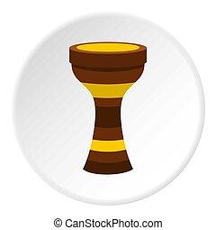 Darbuka musical instrument icon circle - Darbuka, percussive...